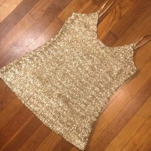 🆕💫💫💫GOLD SEQUIN SPARKLY TANK TOP💫💫💫
